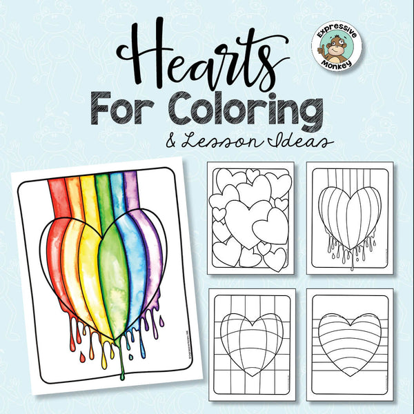 hearts for coloring - Pictures Of Coloring