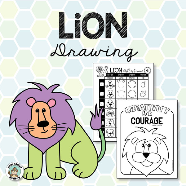 How to Draw a Lion - Art Activity
