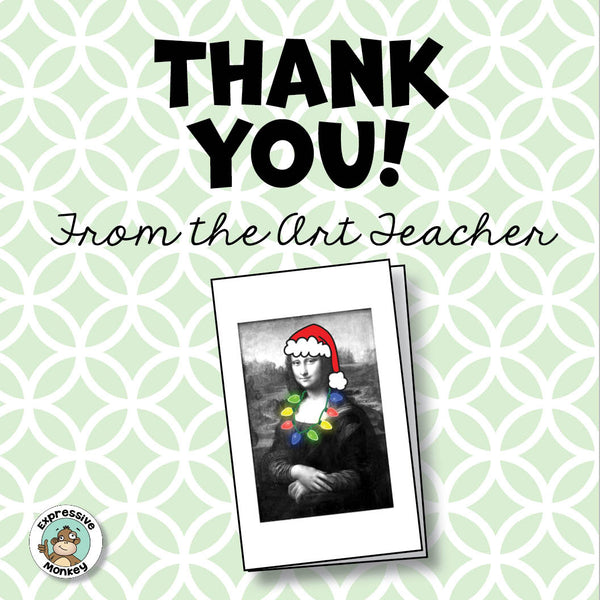 Printable Thank You Cards for the Art Teacher