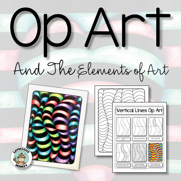 Op Art and the Elements of Art - Art Lessons