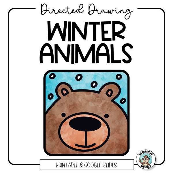 Drawing Winter Animals - Distance Learning Art Activity