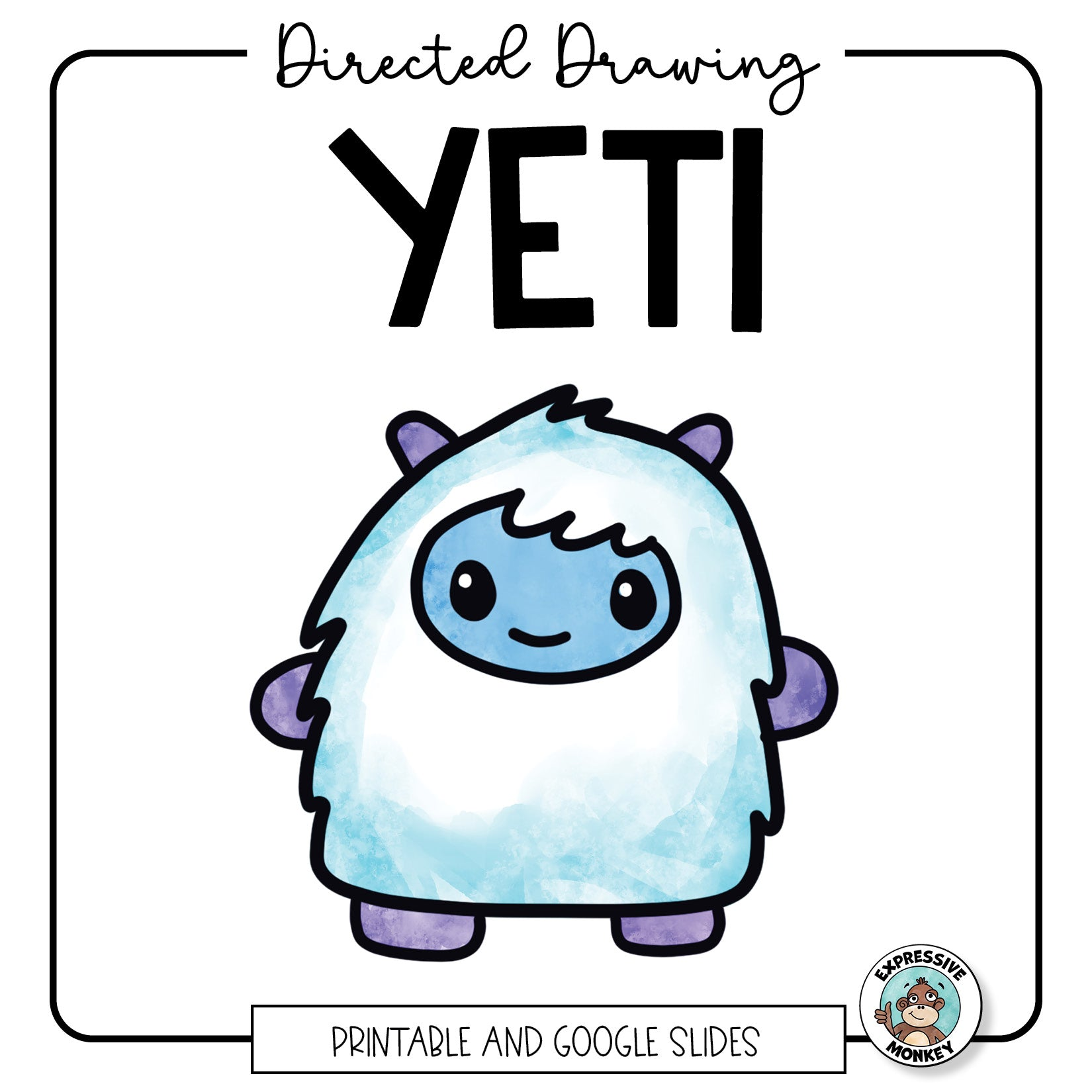 Yeti Directed Drawing Google Slides Distance Learning Activity