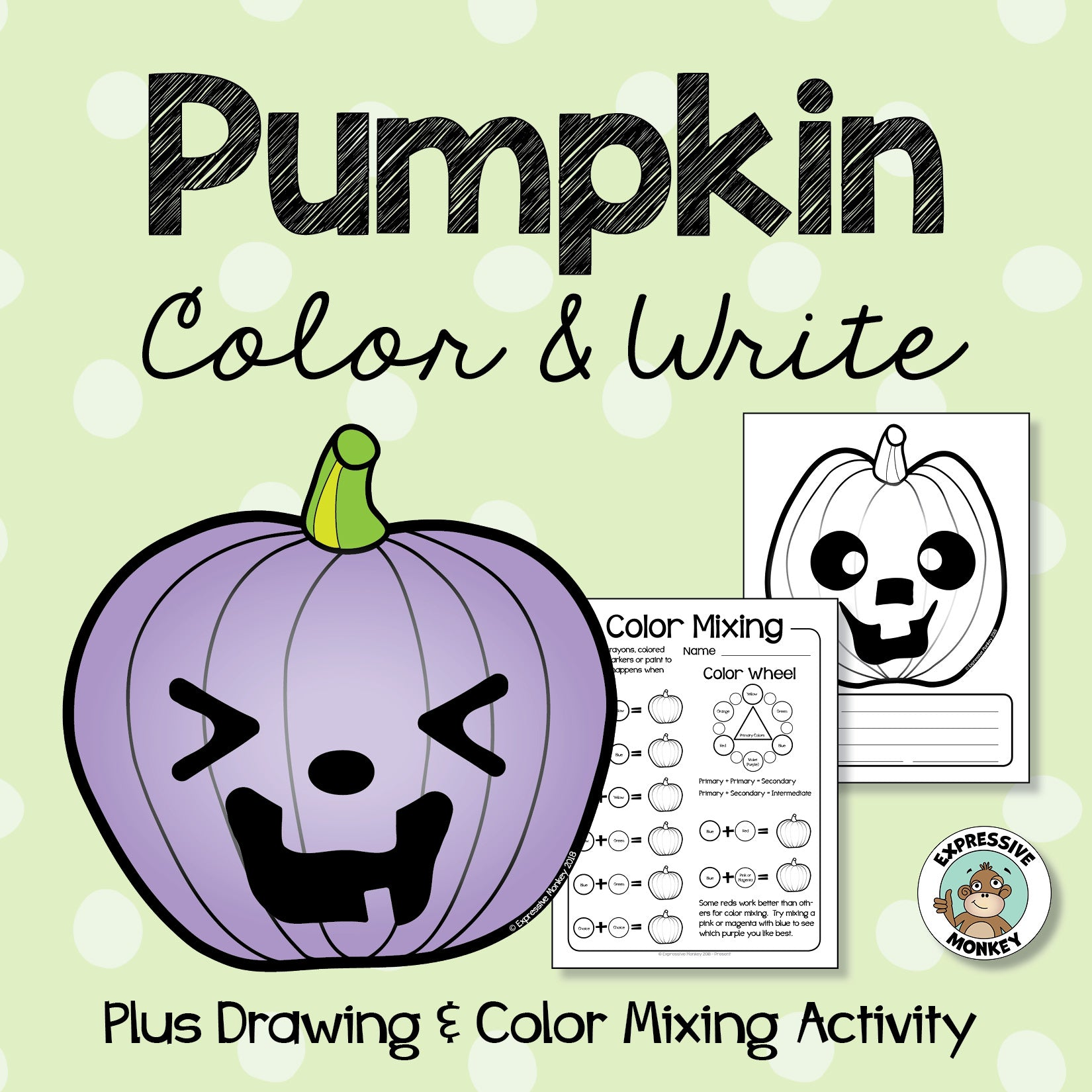 Pumpkin Color & Write - Plus Drawing & Color Mixing