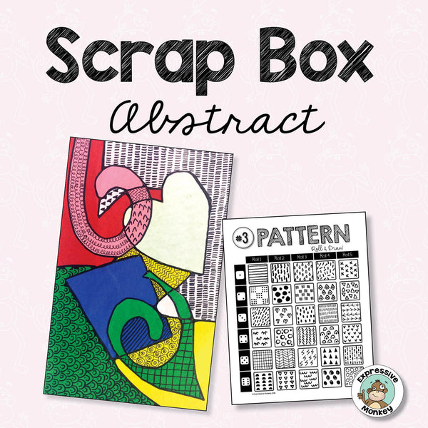 Scrap Box Abstract Art Lesson