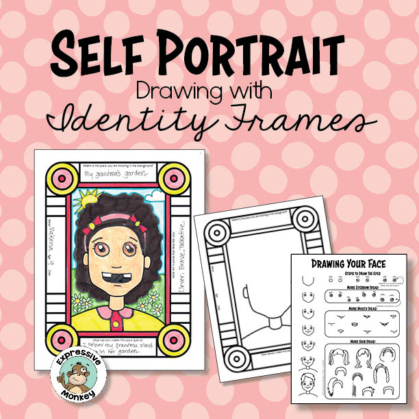 Self Portrait Drawing with Interactive Identity Frame
