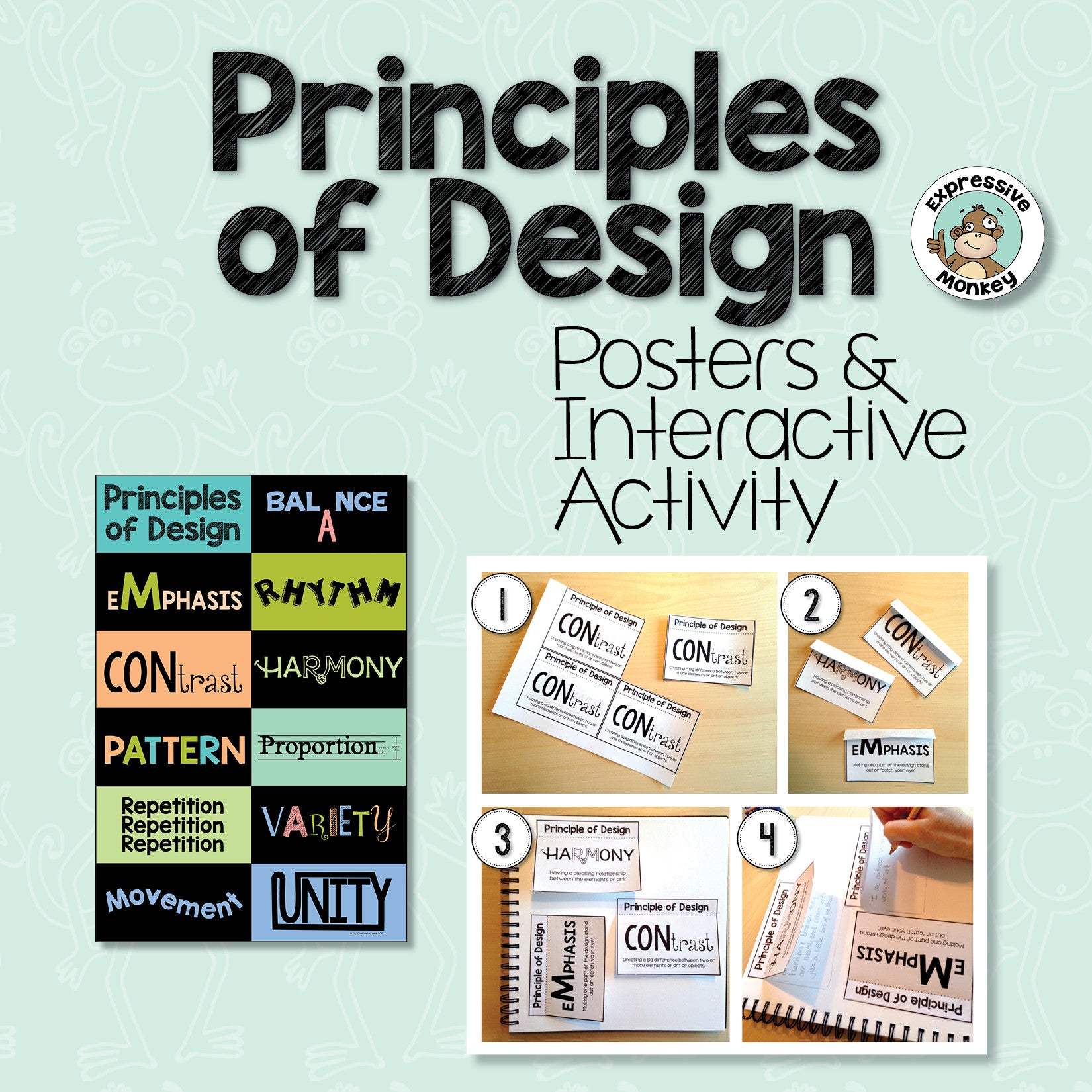 principles of design posters interactive activities expressive