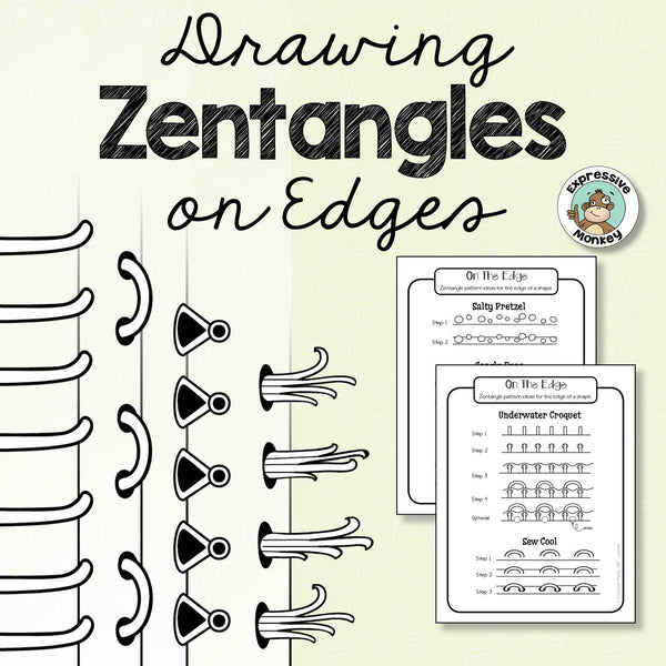 Drawing Zentangles On Edges Step By Step Expressive Monkey