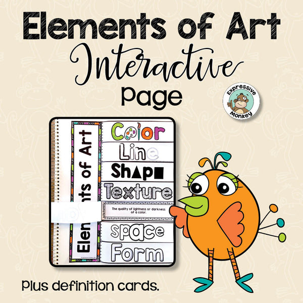 7 Elements Of Art And Their Definitions : Elements of art interactive page expressive monkey