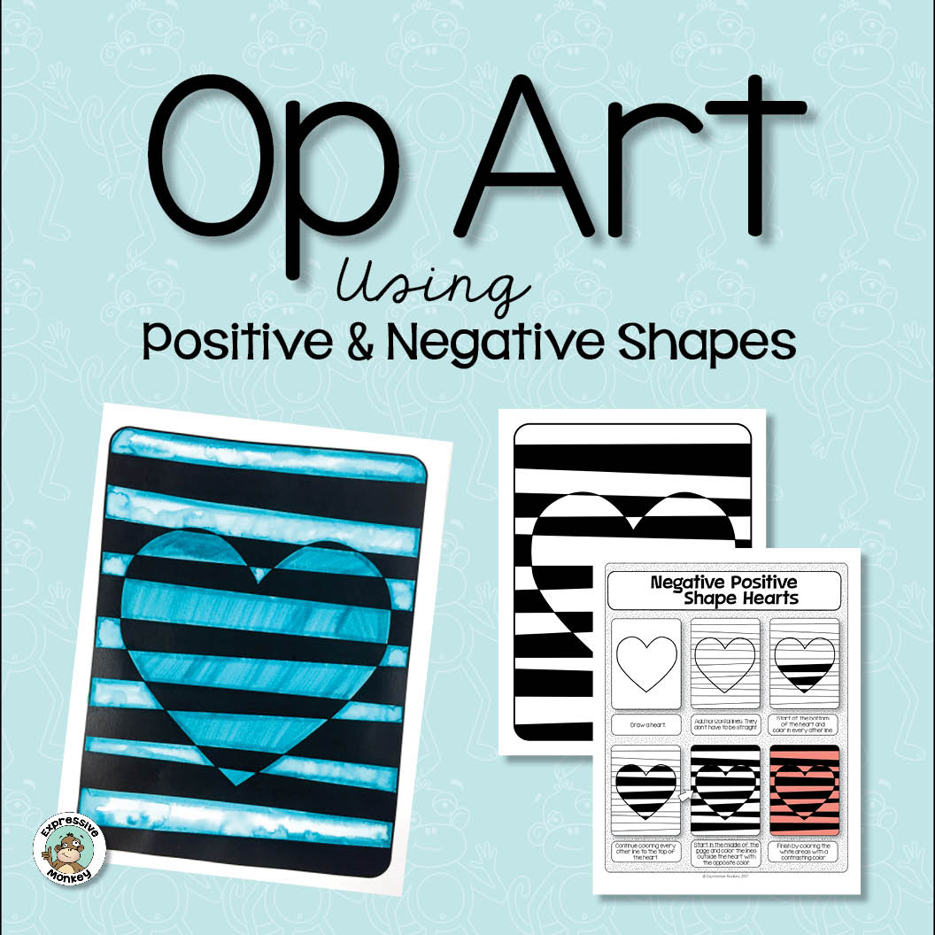 Op Art Using Positive and Negative Shapes