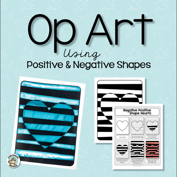 Op Art Using Positive And Negative Shapes Expressive Monkey