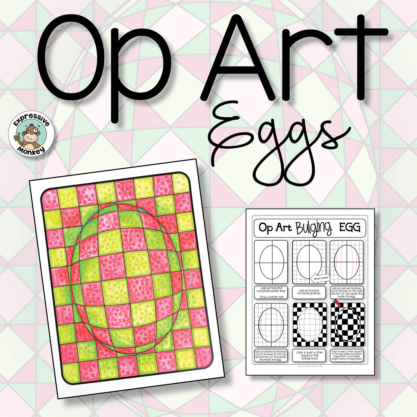 Op Art Eggs