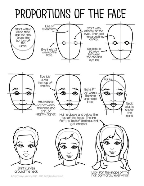 how to draw expressive faces