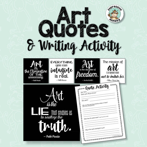 Art Quotes & Writing Activity: Black and White