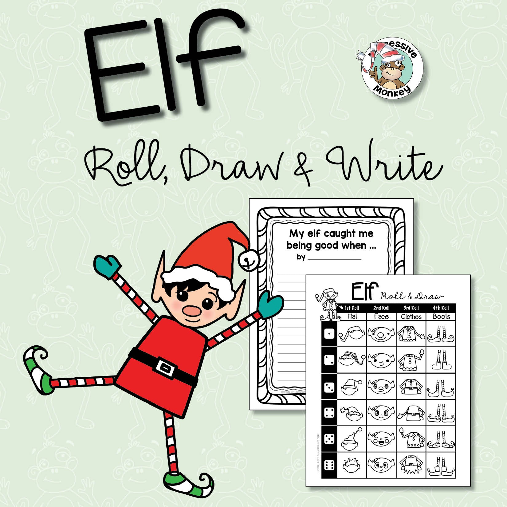 Elf Roll, Draw & Write