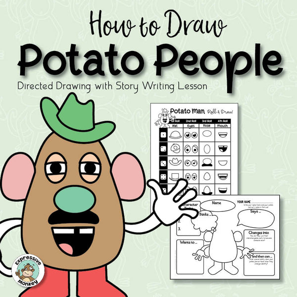 How to Draw Potato People: Directed Drawing and Writing Activity