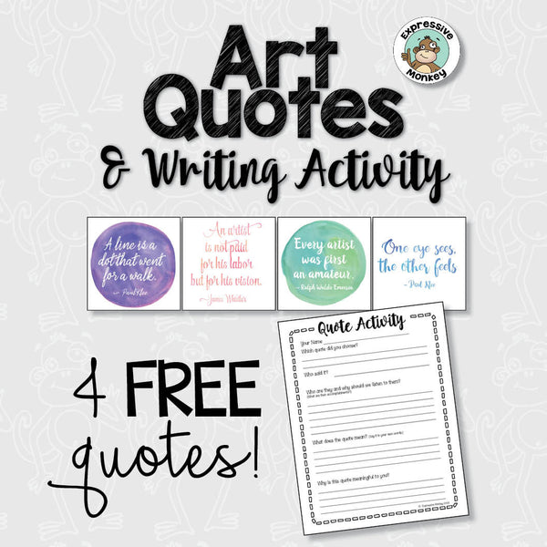4 FREE Art Quotes & Writing Activity