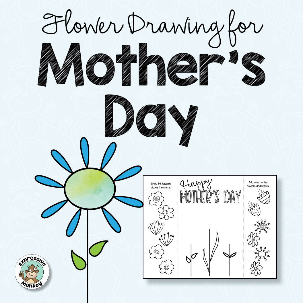 Mother's Day Flower Drawing Freebie