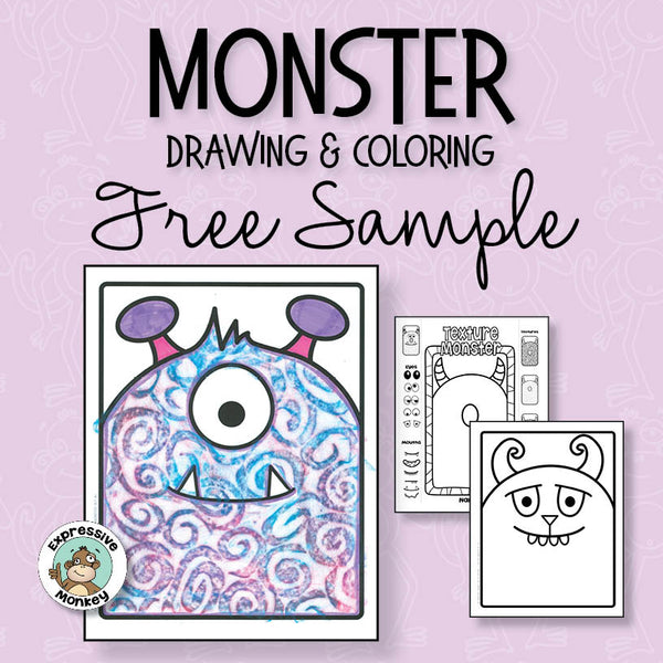 Monster Drawing & Coloring Free Sample