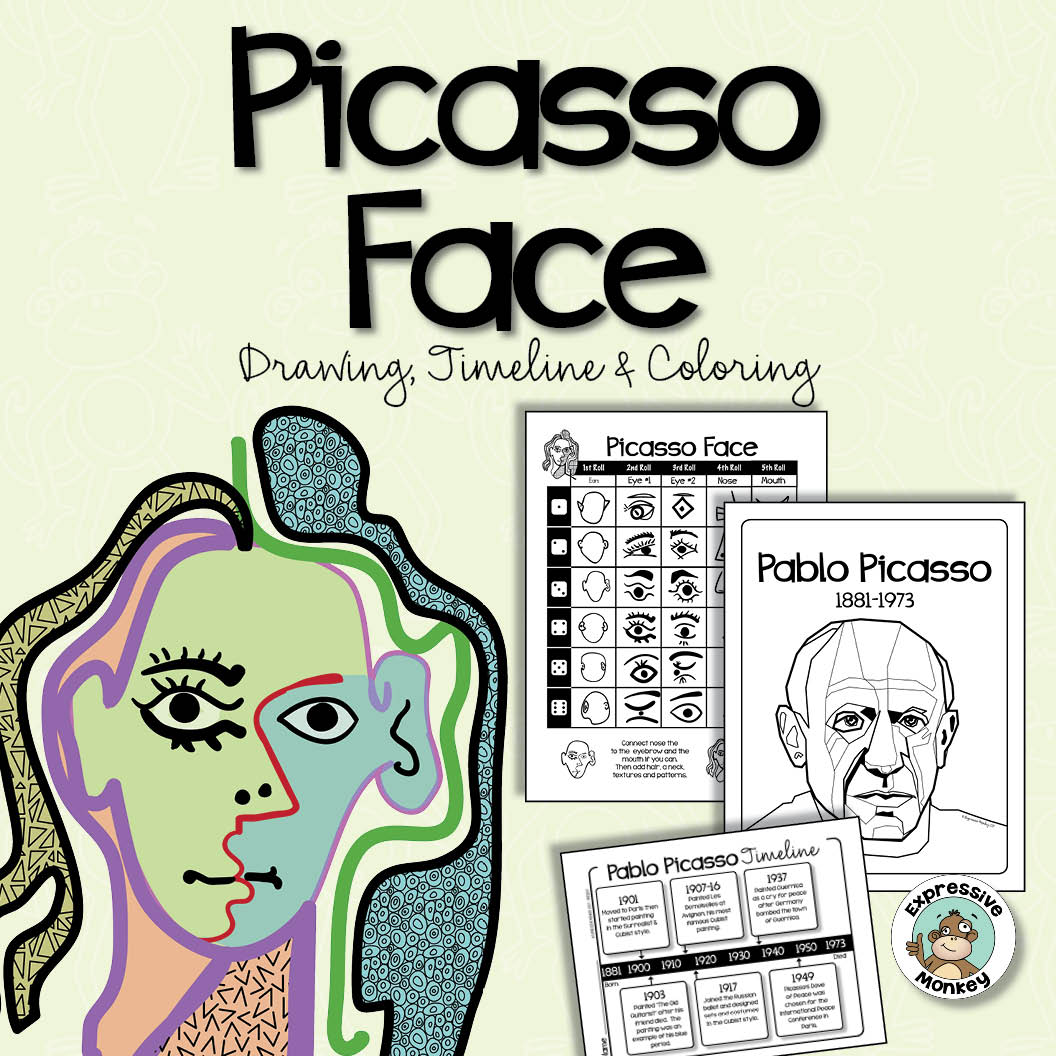 It's just a graphic of Dynamic Picasso Face Drawing