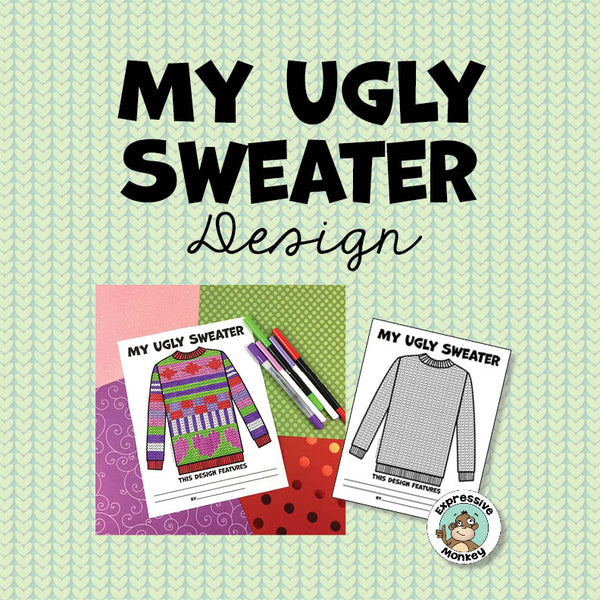 Ugly Sweater Winter Art Activity