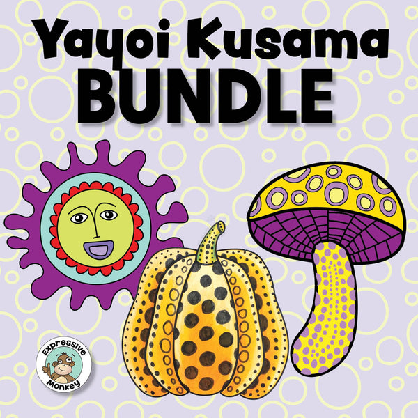 Yayoi Kusama  Art Lesson BUNDLE with Pumpkins, Mushrooms & Star Faces