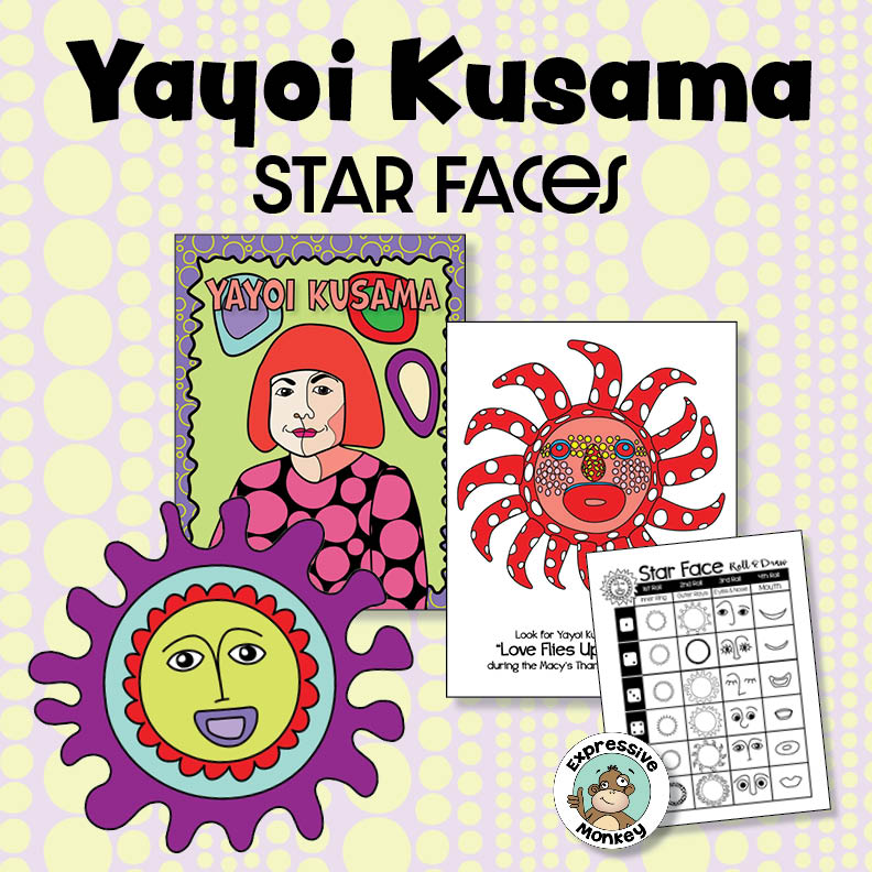 Yayoi Kusama Art Lesson: Drawing Star Faces