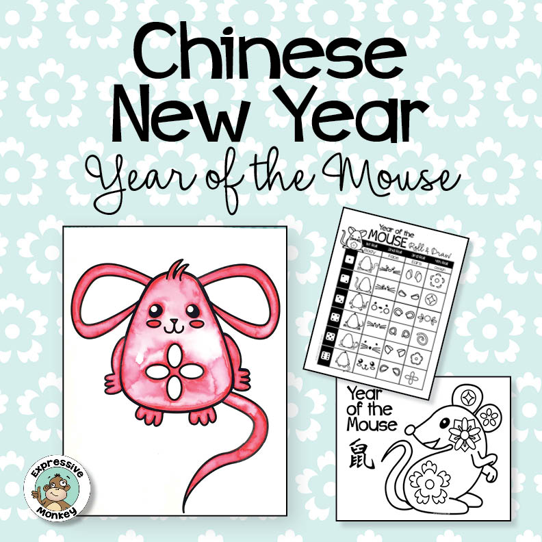 Chinese New Year Drawing: Year of the Mouse - Rat Art Activity