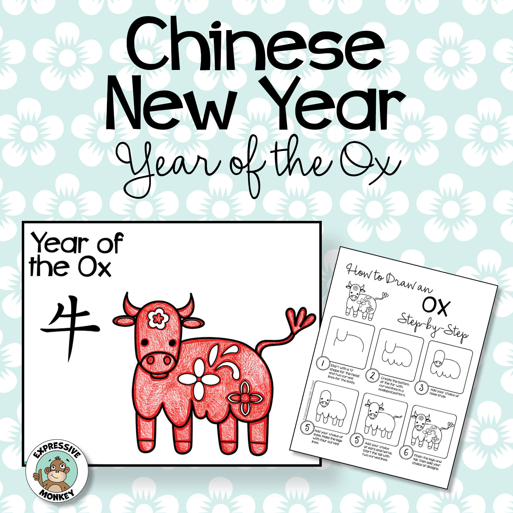 Chinese New Year Drawing: Year of the Ox Art Activity