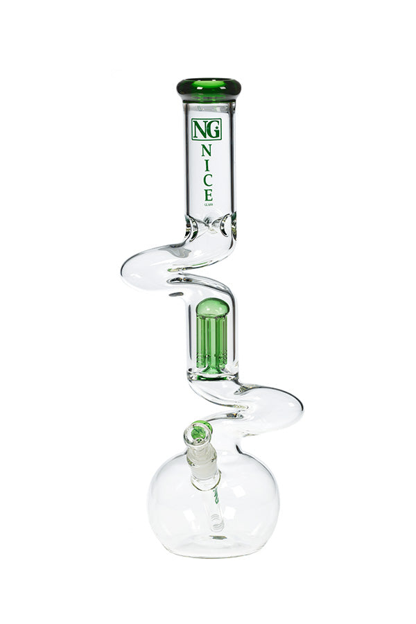 18 Inch NG Double Zong 4-Arm Percolator Beaker - The Downstem