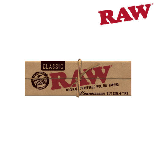 RAW 1 1/4 CONNOISSEUR WITH TIPS