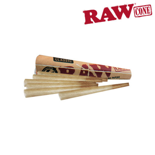 RAW Pre-Rolled Cone 1 1/4 - 6 Pack - The Downstem