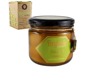 Organic Goodness Soy Candle - Patchouli Vanilla - The Downstem