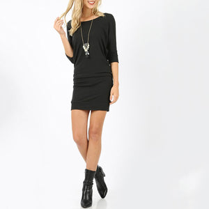 Aria Dolman Sleeve Tunic Dress