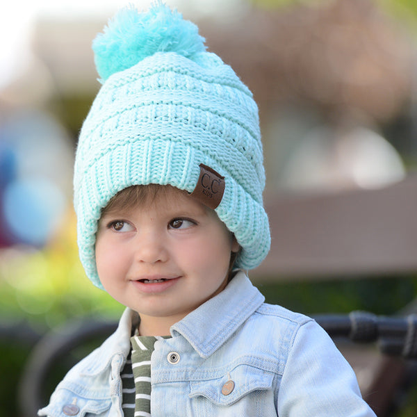 Kids CC Beanie with Pom