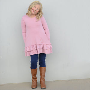 Kids: Elsie Double Ruffle Tunic