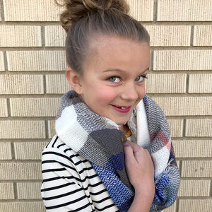 Kids Infinity Scarf Plaid