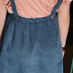 ECCkids - Jacey Corduroy Button-Down Overall Midi Dress