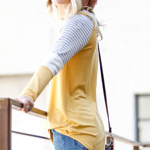 Julia Color Block Raglan Top