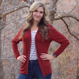 Kari Long Sleeve Snap Cardigan