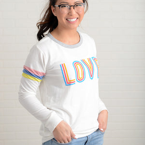 Neon Love Graphic Top