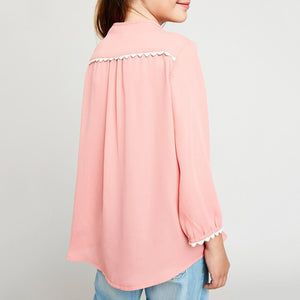 Kids: The Lyla Tunic Top - Carnation Pink