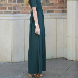 Mariah Half Sleeve Maxi Dress