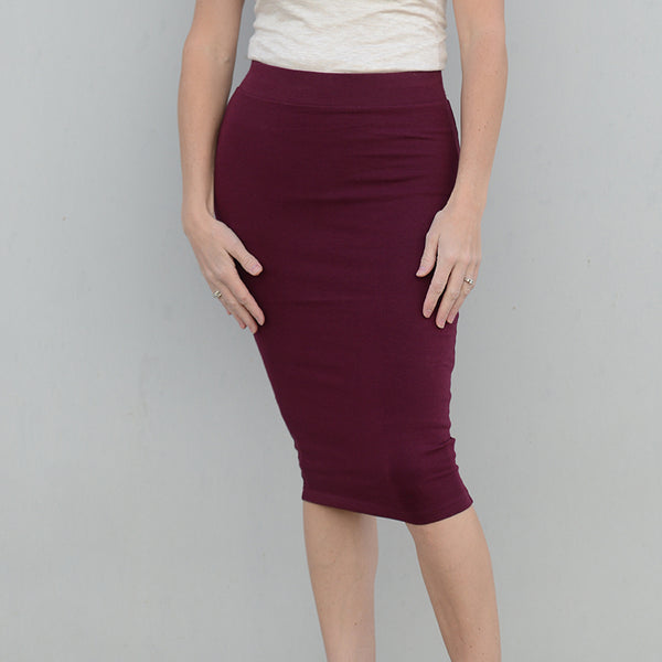 Michelle Jersey Pencil Skirt