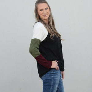 The Mindy Color Block Sweater
