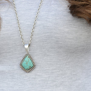 Necklace - Turquoise Diamond Pendant