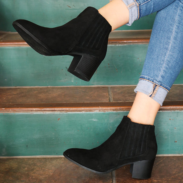 Shae Elastic Band Bootie
