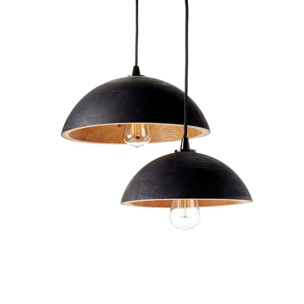 Charred Wood Lamp Shade