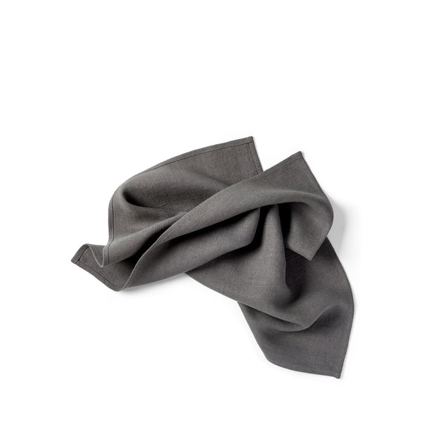 Huron 22 inch Heirloom Linen Napkin - Graphite