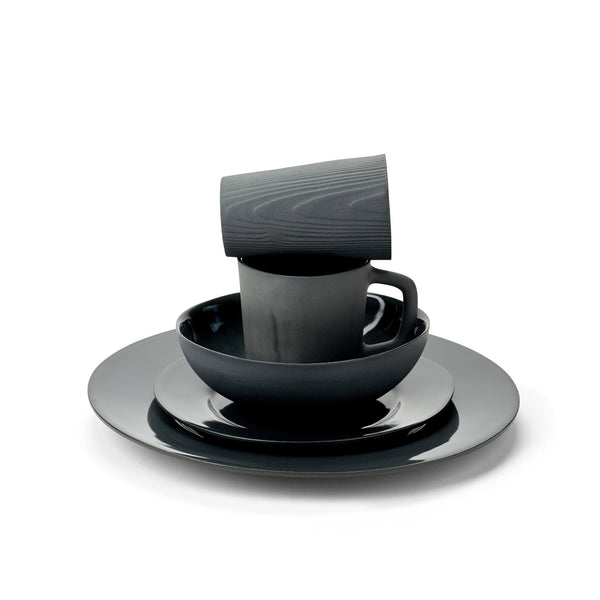 Marcy Porcelain Dinnerware in Black