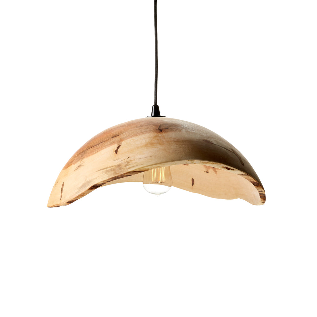 Wane Edge Spalted Maple Lamp Shade